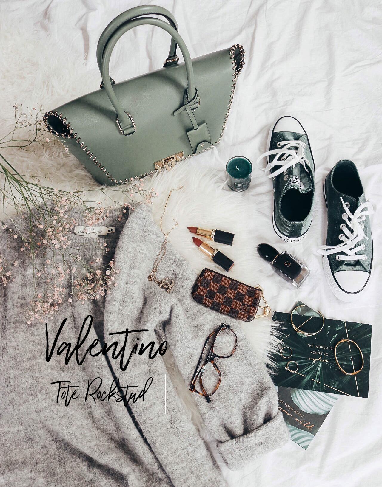 Taschenliebe – Valentino 'Tote Rockstud' in mintgrün